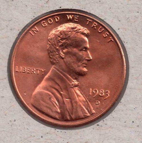 1983d BU Lincoln Memorial Penny #4