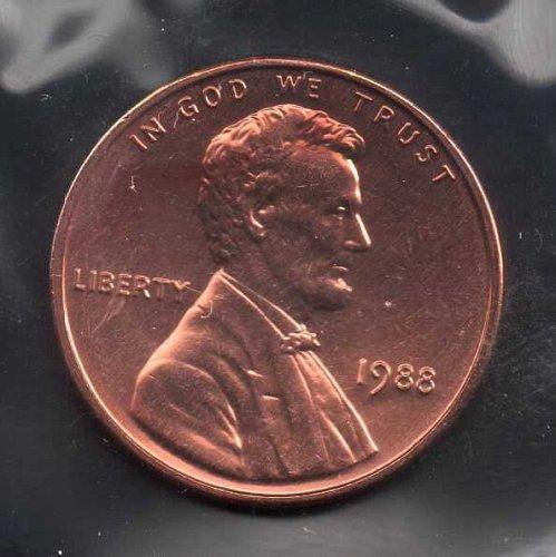 1988p BU Lincoln Memorial Penny #3
