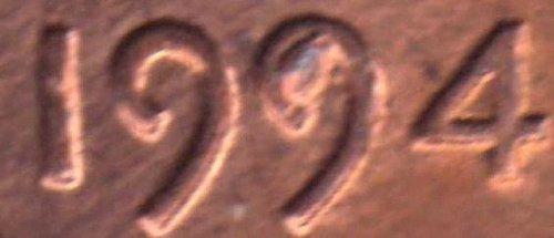 1994 Lincoln Cent - Die Chip Error