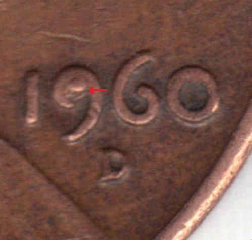 1960 D Large date Lincoln cent