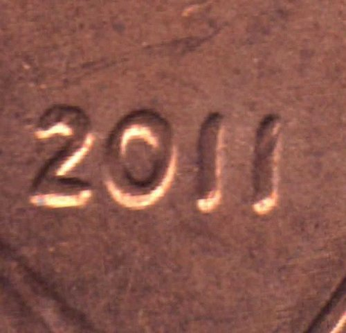 2011 Lincoln Cent Doubled Die Obverse
