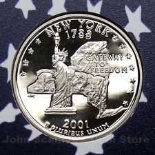 2001 S  PROOF  NEW YORK STATE QUARTER