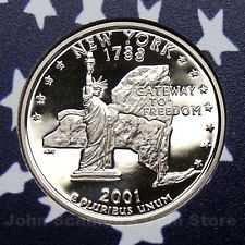 2001 S  PROOF  NEW YORK STATE QUARTER