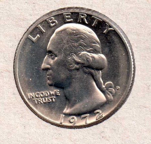 1972d BU Washington Quarter