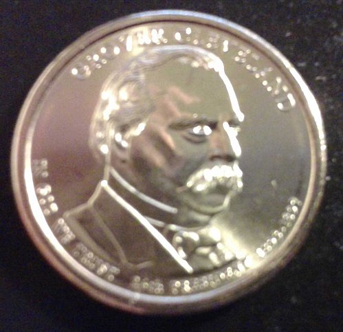 2012-D Grover Cleveland (2nd Term) Golden Dollar