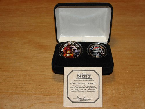 DALE EARNHARDT SR # 3 COLORIZED Half Dollar/Quarter coin set - New in case!