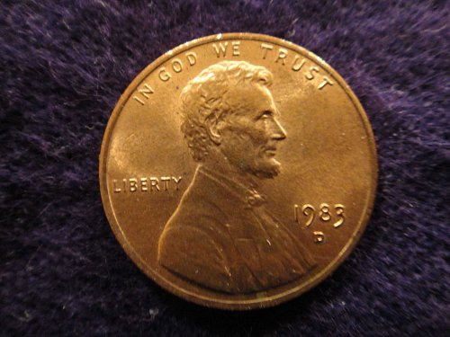 1983-D Lincoln Cent MS-63 (Choice BU) Red-Brown