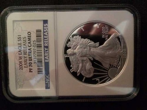 2008 American Eagle Early Release PF70 Ultra Cameo  W