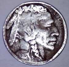 1913-S Type 1 Buffalo Nickel - Filler Coin - Full Date & MM - 1/4 horn