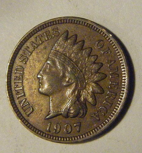 1907 Indian Head Cent-Extra Fine Condition