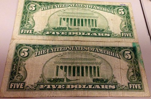 """FV$27.00 Lot """"Red Seals"""" $5&$2 US Notes Mixed 1953-1963-GREAT LOT!"""