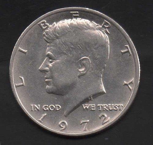 1972p Kennedy Half Dollar #2 - Double strike