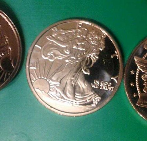 1 ADVP WALKING LIBERTY DESIGN (copper bullion)