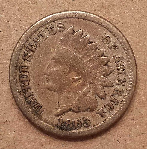 1863 Indian Head One Cent Coin