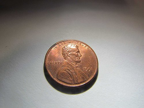 1991 MEMORIAL CENT ONE CENT PENNY AUCT#11