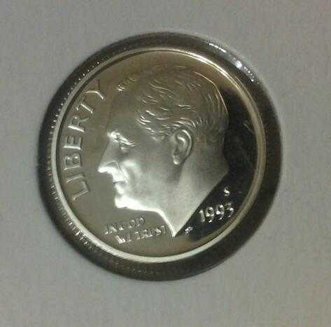 Rare - 1993 s Silver proof Roosevelt dime