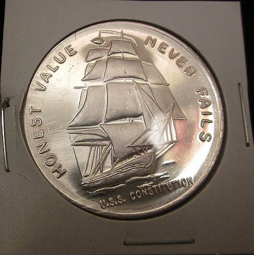 1 Troy oz .999 fine Silver LIBERTY MINT~Honest Value Never Fails Round Bullion