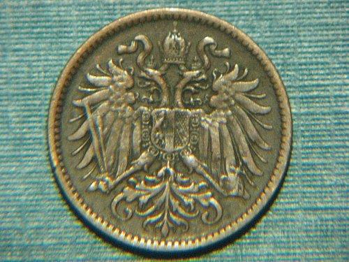 1897 Austrian 2 Heller