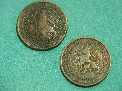 1878,1906 Netherlands Cent