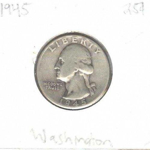 1945 Silver Washington Quarter