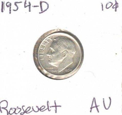 1954-D Silver Roosevelt Dime AU!