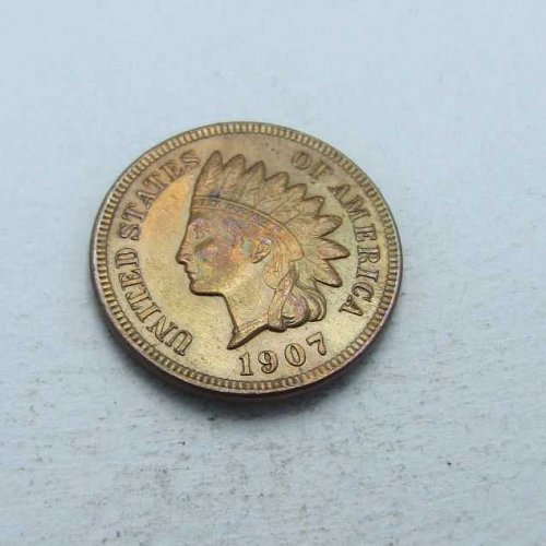 Unc 1907 Indian Head!!!!   // Reall Nice red Tone!!!!
