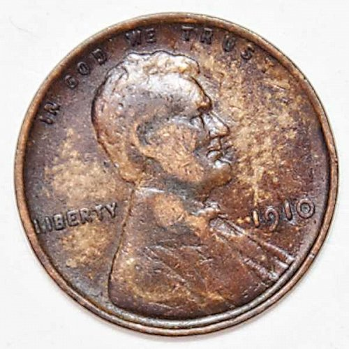 1910 P LINCOLN WHEAT PENNY