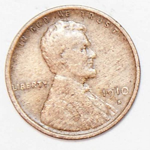 1910 S LINCOLN WHEAT PENNY