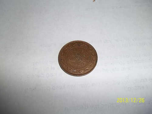 1914  large cent coin from Canada