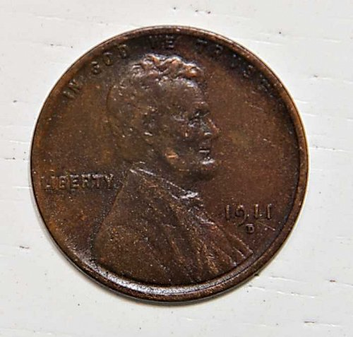 1911 D Lincoln Wheat Penny