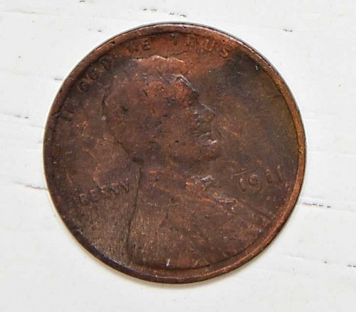 1911 P LINCOLN WHEAT CENT