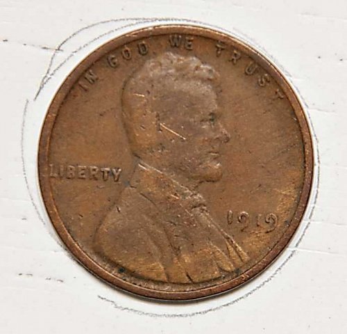 1919 P Lincoln Wheat Cent