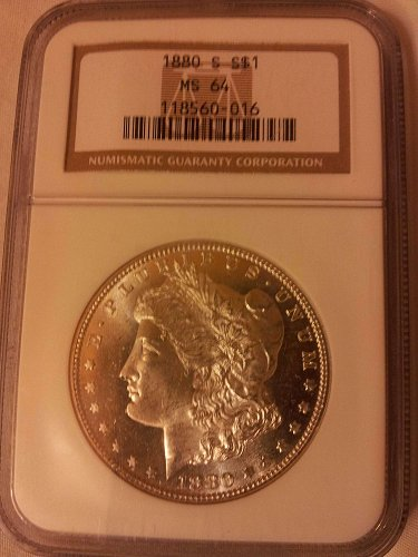 1880 S  S$1 MS 64 NGC