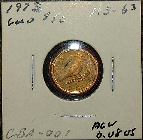 1975 Bahamas $50 Gold Coin