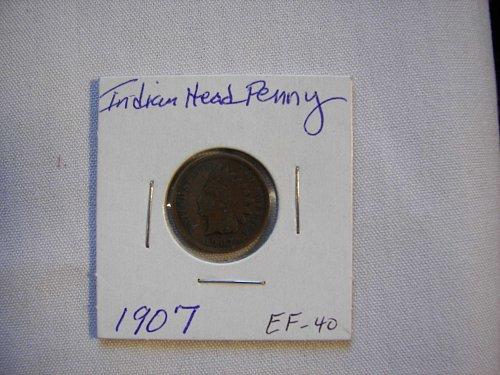 1907 1C BN Indian Cent
