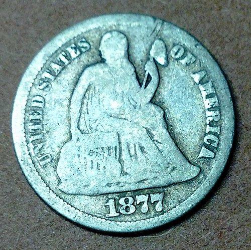 1877 Seated Liberty Dime