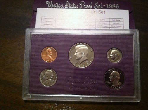 1986 Proof set - Original box