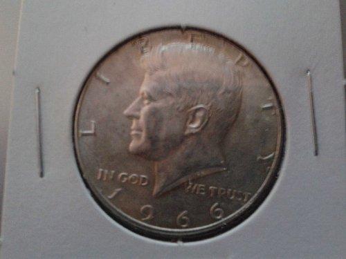 1966 P Kennedy Half Dollar.