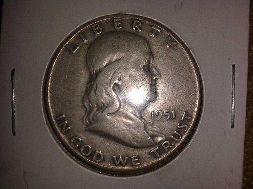 1951 D Franklin Half Dollar.