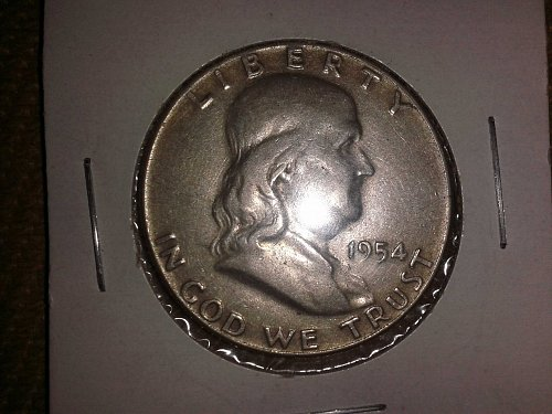 1954 P Franklin Half Dollar.
