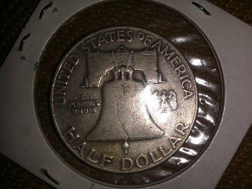 1952 D Franklin Half Dollar.
