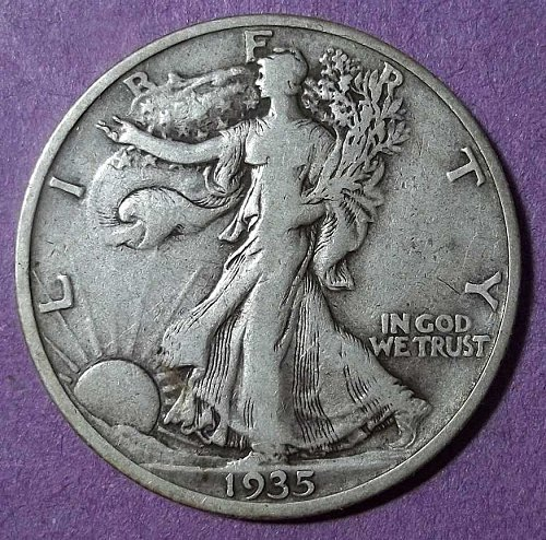 1935s Walking Liberty Half Dollar