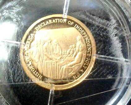 Americas history... Declaration of Independence coin