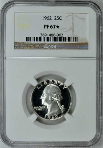 1962 Washington 25c NGC PF-67*