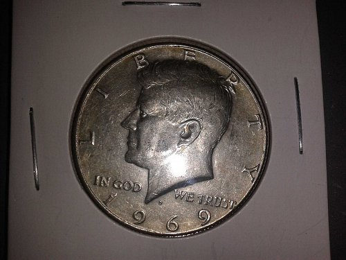 1969 D Kennedy Half Dollars