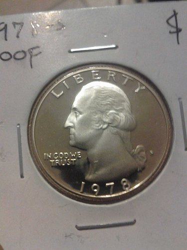 1978 S PROOF WASHINGTON QUARTER DOLLAR
