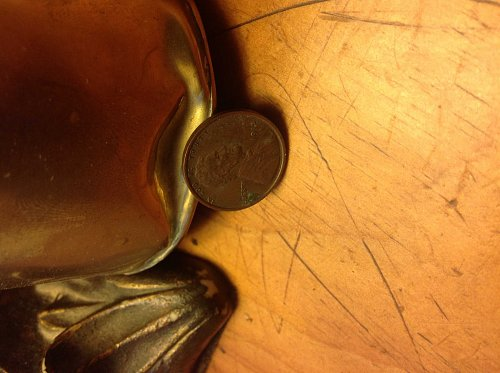 1915 wheat cent, really nice stalk