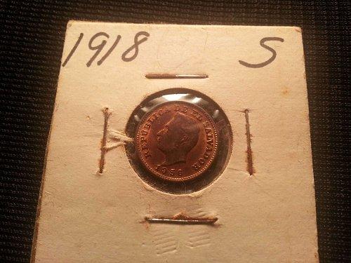 1918 El Salvador 1 Centavo