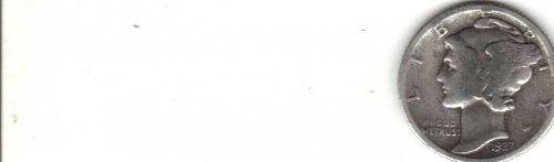 1937-P Mercury Dime G-VG Condition. Good profiles, lines & decent rims!!