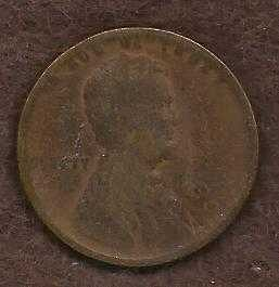 US Lincoln Type Wheat Cent Penny 1918 S